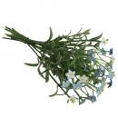 Kunstblume Vergissmeinnichtsträußchen in Blau/Weiß, 19 cm