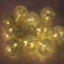 Lichterkette mit 10 LED Fadenkugeln, 1,6 Meter