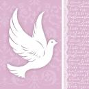 20er Pack Servietten Kommunion, Taube, Glaube in Soft Violet, 33 x 33 cm