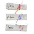 Serviettenring Hochzeit Eheringe mit Satinband in 3 Farben