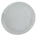 Spiegeluntersetzer rund mit Glitzerrand, 12,5 cm
