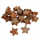 20 Streudeko Kokos Sterne, Weihnachten, in Braun, 27 - 30 mm