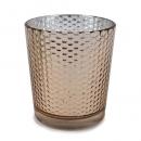 Teelichtglas, Windlicht in Kupfer, verspiegelt, 87 mm