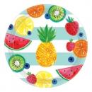 8er Pack Teller Tropische Früchte, 26,7 cm
