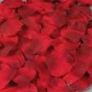 50 Textil Rosenblätter in Bordeaux, 50 mm
