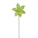 Windrad Pick mit Kreisen in Hellgrün, 28 cm