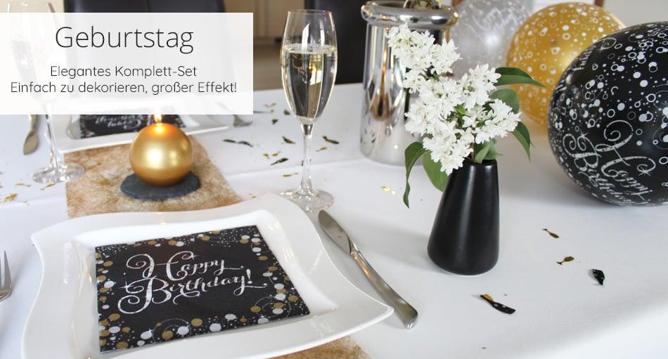 Geburtstag Deko Komplett Set Brillant Geschenk Set Tafeldeko De