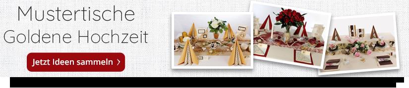 Goldene Hochzeit Tischdekoration In Großer Auswahl