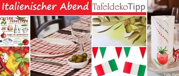 Tafeldeko tipp f r einen italienischen abend tischdeko for Italienische dekoration