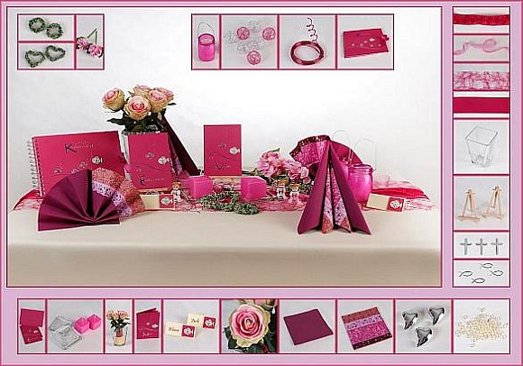Deko ideen kommunion lila pink raum und m beldesign for Tischdeko bestellen