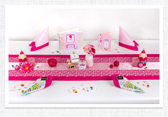 Einschulung Tischdeko in Pink