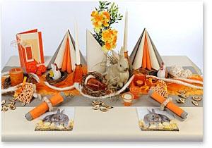 Frühling Tischdeko in Orange