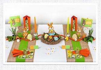 Tischdeko Ostern kunterbunt