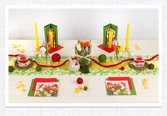 Frühling Tischdeko Tulpen