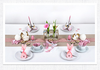 Kaffeetafel zu Ostern