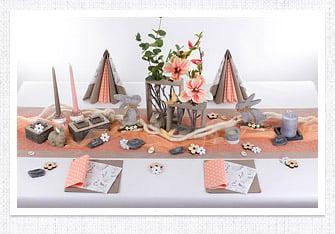 Frühling Tischdeko Harmonie in Apricot