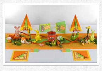 Frühling Tischdeko in Orange-Gelb