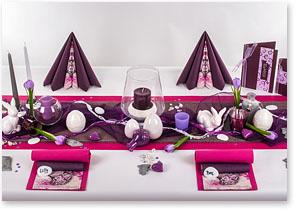 Frühling Tischdeko in Plum-Pink