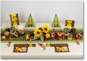 Geburtstag Tischdeko in Gelb-Grün