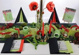 Geburtstag Tischdeko in Schwarz Grün