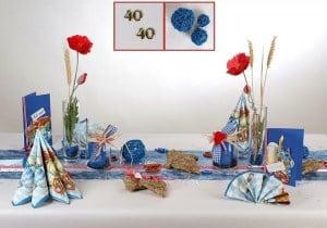 Geburtstag Tischdeko in Blau