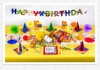 Geburtstag Tischdeko Bunte Party