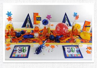 Bunte Geburtstag Tischdeko