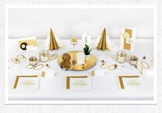 Geburtstag Tischdeko Zahlen in Gold