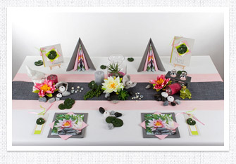 Geburtstag Tischdeko in Grün Rosa