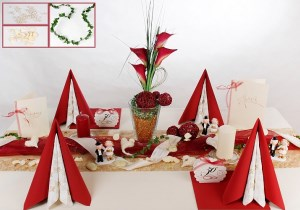 Goldene Hochzeit Tischdeko in Rot