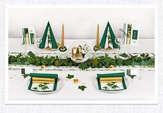 Goldene Hochzeit Tischdeko in Grün