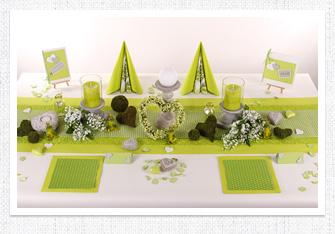 Tischdeko Hellgrün