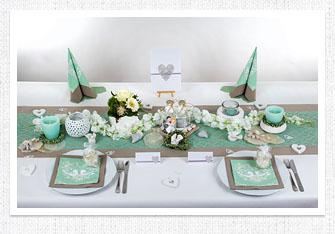 Tischdekoration, Tischdeko zur Hochzeit, Mustertische übersicht ...