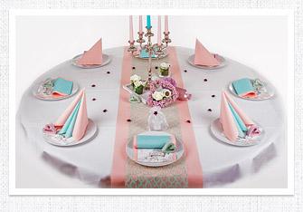 Tischdeko in Pastell