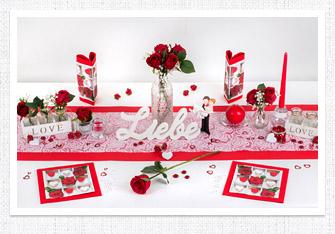 Tischdeko Rote Herzen