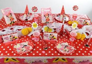 Kindergeburtstag Tischdeko Minnie Mouse
