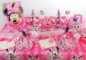Kindergeburtstag Tischdeko Minnie
