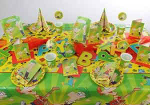 Kindergeburtstag Tischdeko Phinneas-Ferb