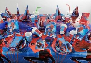 Kindergeburtstag Tischdeko Spider Man