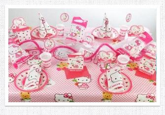 Kindergeburtstag Tischdeko Hello Kitty
