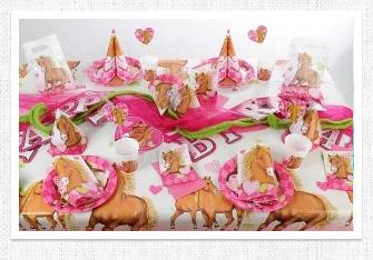 Kindergeburtstag Tischdeko Pferd
