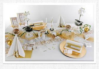 Kommunion Tischdeko in Weiß-Gold