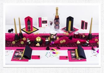 Tischdeko Feuerwerk in Pink