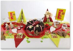 Sommer Tischdeko Kiwi