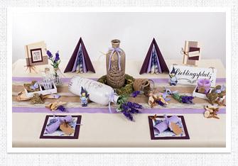 Sommer Tischdeko Lavendel