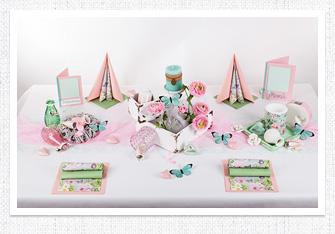 Sommer Tischdeko Pastell