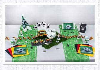 Tischdeko Fußball-Party
