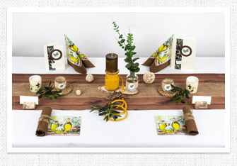 Tischdeko Olivendeko