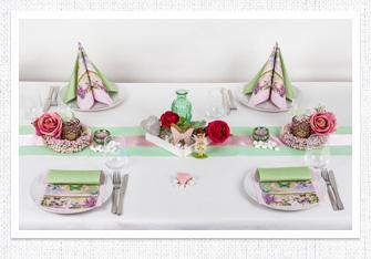 Tischdeko Romantische Pastelltöne