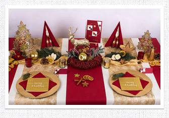 Tischdeko Weihnachten in Bordeaux